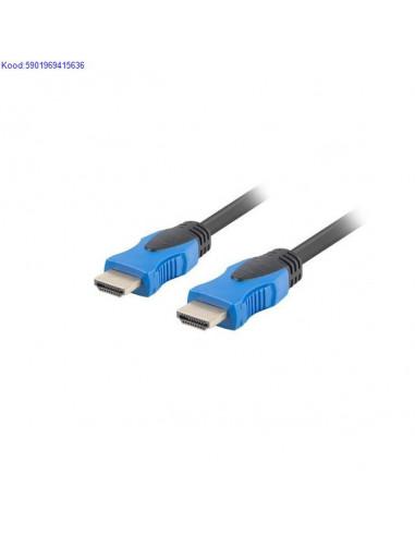HDMI кабель A-A 3m Lanberg черный