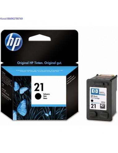 Tindikassett HP No.21 Black (Originaal)