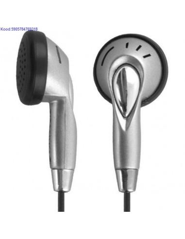 Kõrvaklapid Titanum TH101 must+hõbe...