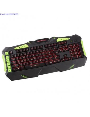Multimeedia klaviatuur Esperanza valgustusega EN USB 1114