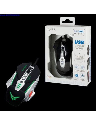 Optiline hiir LogiLink ID0156 Gaming 12003200dpi USB 1123