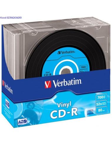 CD-R toorik 52x 700MB Verbatim Vinyl...