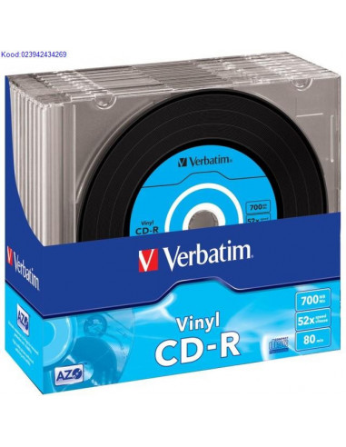CDR toorik 52x 700MB Verbatim Vinyl SlimCase 1tk 1211
