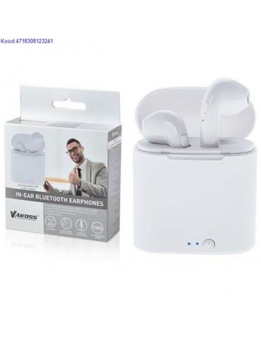 Bluetooth krvaklapid mikrofoniga Vakoss SK830BW valged 1230