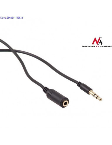 Audio cable extension Maclean 5m M/F...
