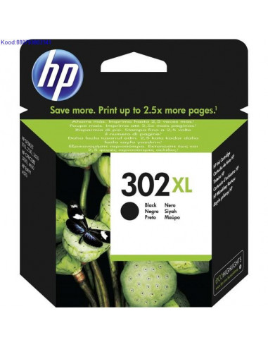 Черный чернильный картридж HP 302XL...