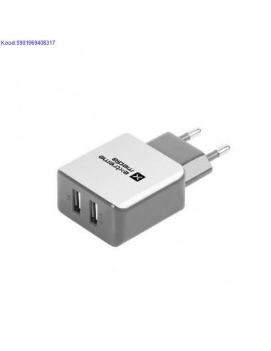 USB зарядка от сети на 2 USB порта,...