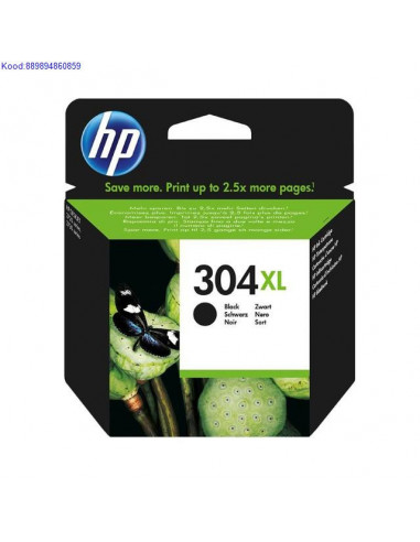Tindikassett HP 304XL Black (Originaal)