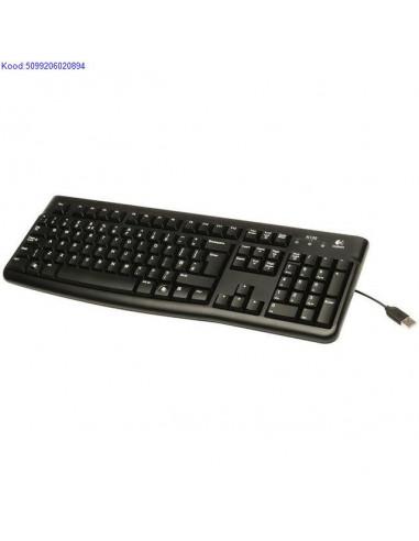 Klaviatuur Logitech K120 US/RU USB must