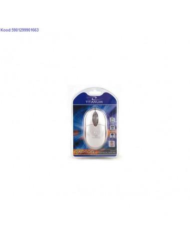 Optiline minihiir Titanum Raptor TM102W 1200 dpi USB valge 1479