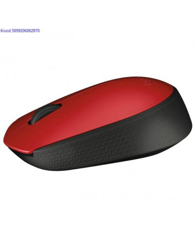 Wireless Logitech M171 Black + Red Mouse