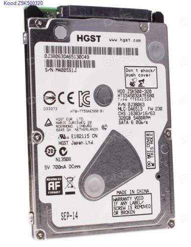 "Kõvaketas 2,5"" HGST Z5K500320 320GB..."