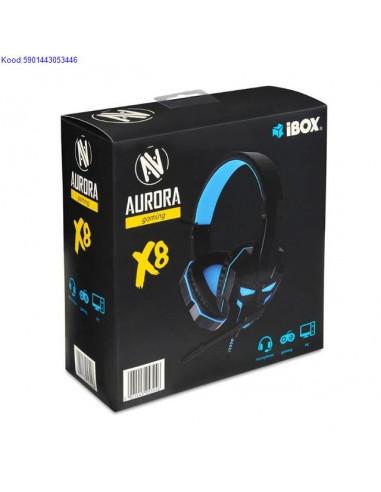 Krvaklapid mikrofoniga iBox Aurora X8 1778