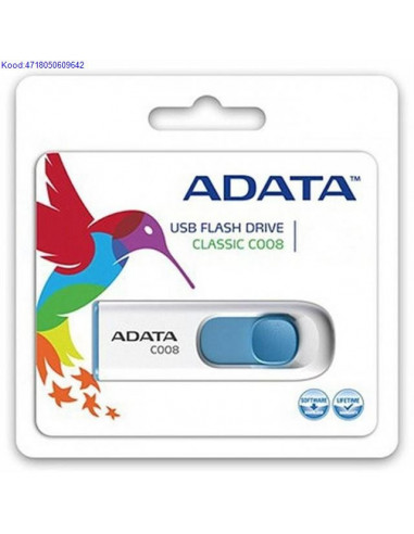 Mlupulk USB20 16GB AData Flash Drive C008 valge 1808