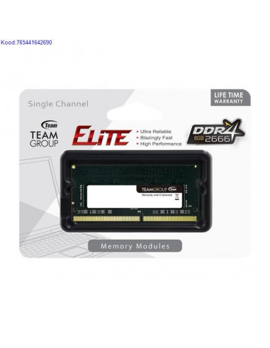 Mlu SODIMM 8GB DDR4 Team Group 2666MHz CL19 12V 1818