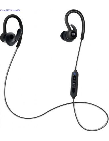 Bluetooth krvaklapid mikrofoniga JBL Reflect Contour mustad kasutatud 1958