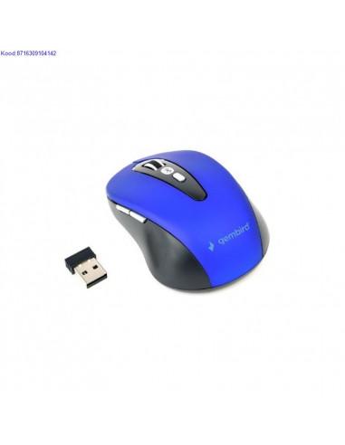 Bluetooth optiline hiir Gembird 800 1200 1600 dpi mustsinine 2043