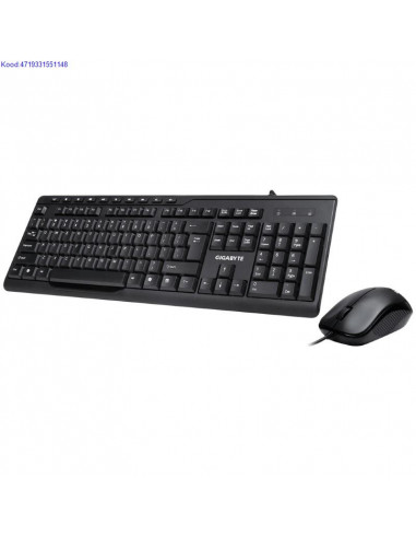 Klaviatuur ja hiir Gigabyte KM6300 Combo must 2221