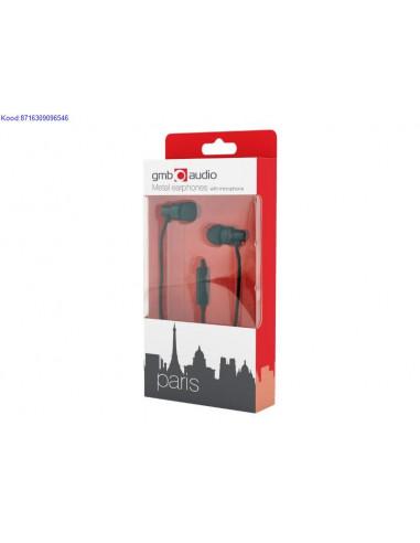 Krvaklapid mikrofoniga Gembird Paris mustad nbid 2251