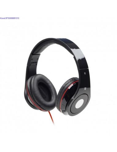 Krvaklapid Gembird Detroit Stereo Headphones mustpunane 2256