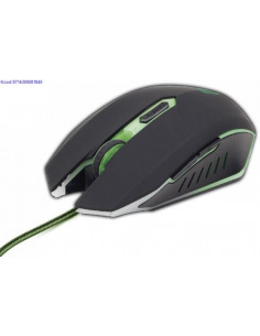 Optiline hiir Gembird Gamer MUSG001G USB must 2373