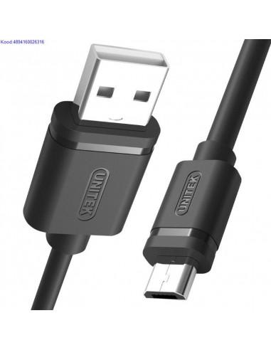 USB A to MicroUSB B kaabel Unitek 05m must 2376