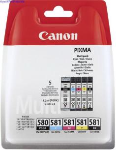 Tindikassettide kpl  Canon PGBK580 ja CLI581 MagentaCyanYellowBlack Originaal 2393