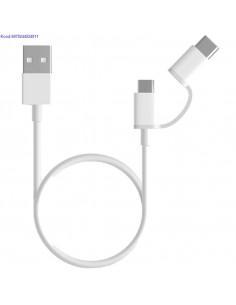 USB kaabel XIAOMI Mi 2in1 USBC MicroUSB 1m valge 2398
