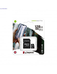 Mlukaart SDXC 128GB Kingston Canvas Select Plus  adapter Class10 2491