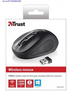 Juhtmevaba optiline hiir Trust Primo must 2536