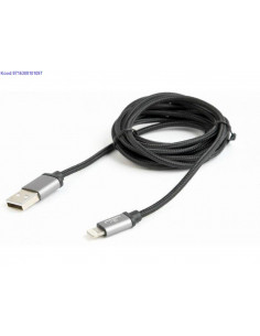 Lightning kaabel USBsse 18 m Cablexpert CCBmUSB2BAMLM6 must 2712