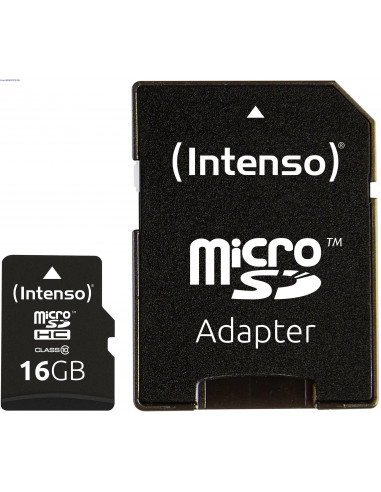 Mlukaart MicroSDHC 16 GB CL 10 Intenso 2918