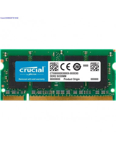 Mälu SO-DIMM 2GB DDR2 800MHz CL6 Retail