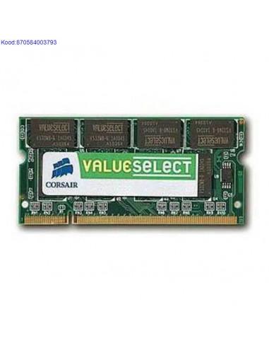 Mälu SO-DIMM 1GB Corsair 400MHz CL3...