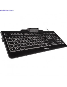 Klaviatuur Cherry KC1000 SC EST IDkaardi lugejaga USB must 366