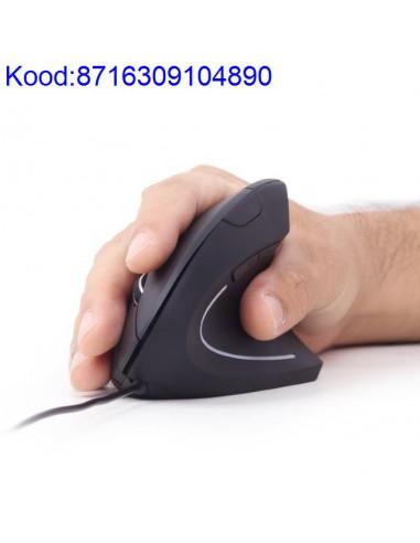 Ergonoomiline optiline hiir Gembird must 376