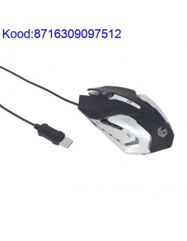 Optiline hiir Gembird 1003200dpi 6nuppu USB RGB 377