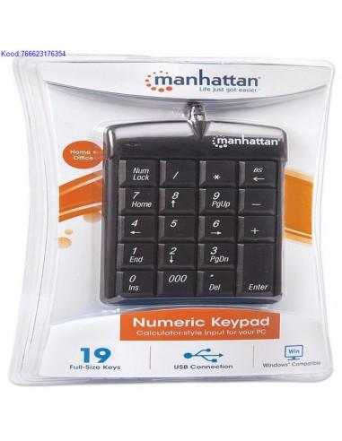Numeric Keypad Manhattan with USB Hub