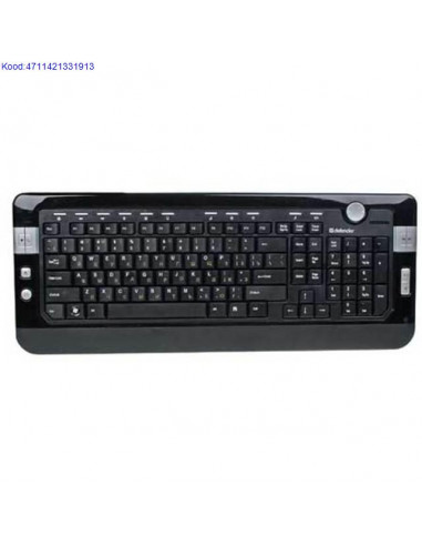 Klaviatuur Defender Bern Multimedia Slim S790 ESTRUS USB must 421