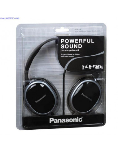 Krvaklapid Panasonic Powerful Sound RPHX250 mustad 477