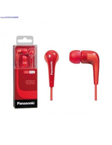 Наушники Panasonic RP-HJE140 красные
