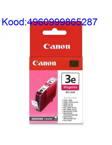 Tindikassett Canon BCI3eM Mageneta Originaal 490