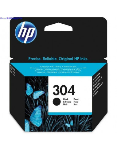 Tindikassett HP 304 Black (Originaal)
