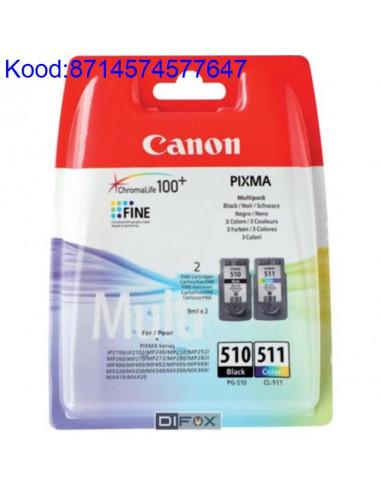 Tindikassettide kpl Canon PG510 ja CL511 Originaal 511
