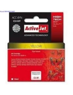 Tindikassett ActiveJet Canon CLI8Y Yellow Analoog 531