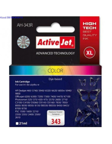 Inkjet Cartridge ActiveJet AH-343S...