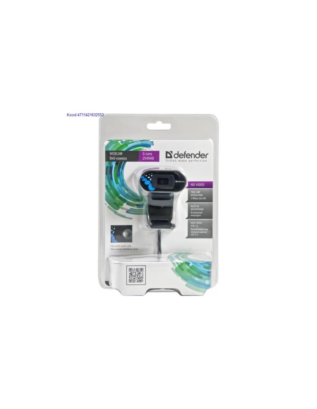 e44dc3c42a8 Veebikaamera Defender G-Lens 2545HD mikrofoniga USB