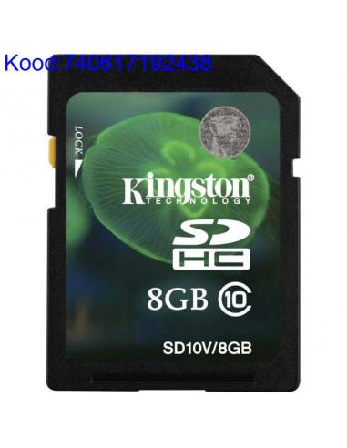 Карта памяти SDHC 8GB Kingston Class10