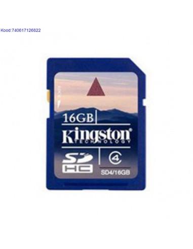 Карта памяти SDHC 16GB Kingston Class4