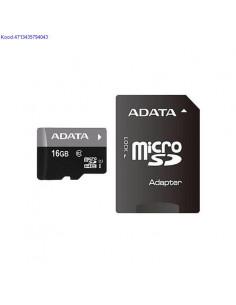 Mlukaart Micro SDHC 16GB AData Class10  adapter 607